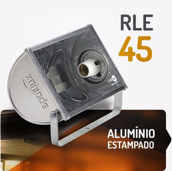 Refletor Alumínio Rle 45w E27 Spotlux Retangular Sem Lampada