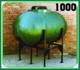 Tanque Horizontal Cilíndrico Moldplas 1000 Lts