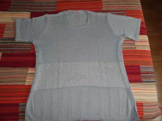 Sweter De Hilo Talle 54 Color Gris Perla