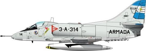 A4 Sky Hawk Argentino - Modelo De Papel