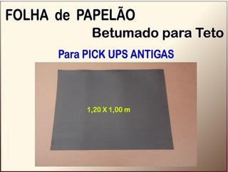 Folha De Papelão Betumado Para Teto Pick Ups Antigas Cinza