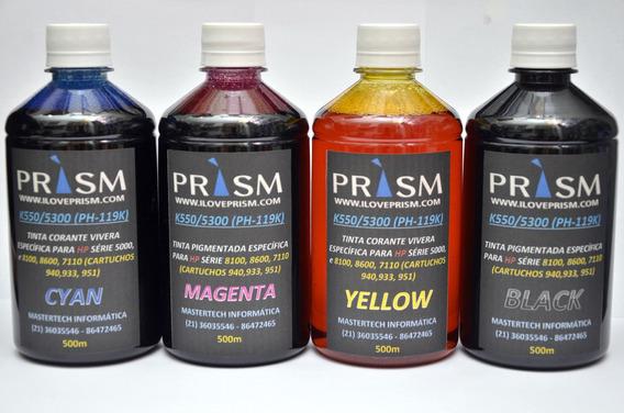Kit Tinta Prism Photomax Hp Corantes - 4 X 500 Ml = 2 Litros