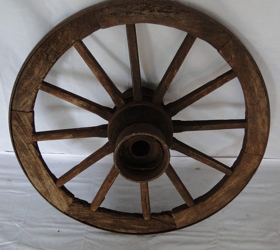 Roda De Carroça Original-grande - 90cm Diametro
