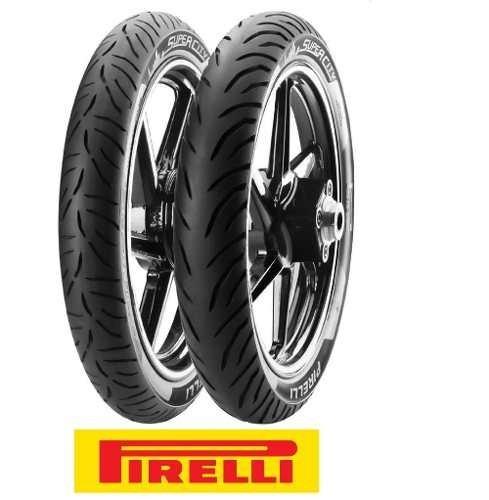 Imagem 1 de 7 de Par Pneu Cg 160 Fan 80/100-18 E 90/90-18 Pirelli S/camara