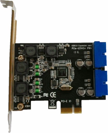Placa Pci Express Usb 3.0 Cabo 20 Pinos Painel Lateral Pc Hd