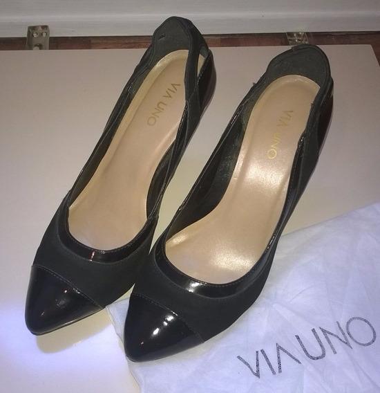Sapato Feminino Scarpin Preto - Via Uno