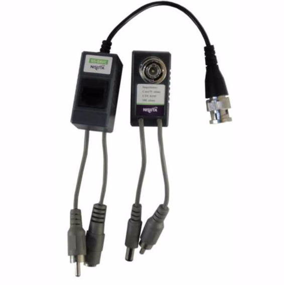 Kit Balun Audio Video Camara Alimentacion Cctv Rj45 Hd T