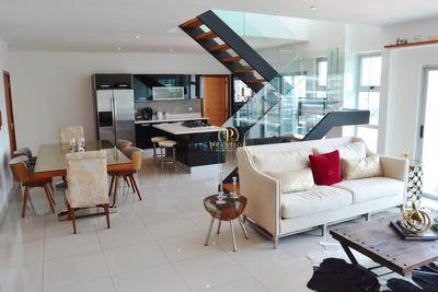 Apartamento Amueblado En Piantini, Tipo Pent-house 3 Hab