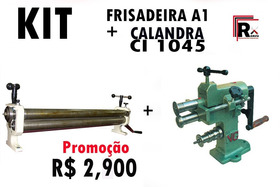 Calandra De Chapa  + Frisadeira /12x Sem Juros