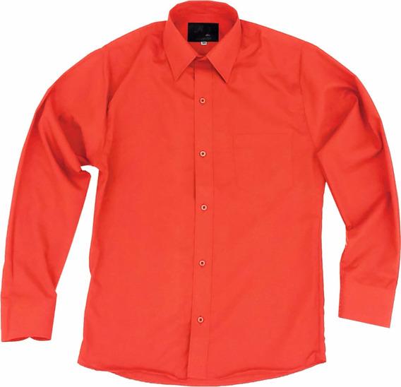 Camisa De Vestir Para Adulto Naranja 34 A 42