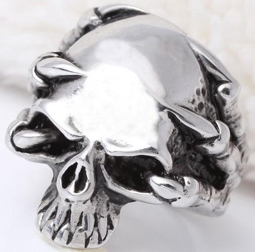 Anel Caveira Skull Aço Terminator