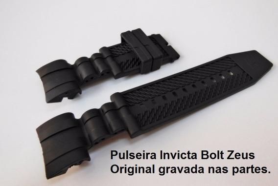 Pulseira Invicta Bolt Zeus Reserve 0827 12666 Original Preta