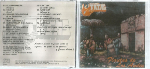 Cd Flautas De Los Andes - Bonellihq Cx45 E19