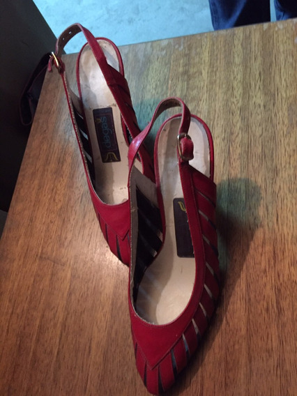 Zapatos Degas Rojos Nº 34 Usados