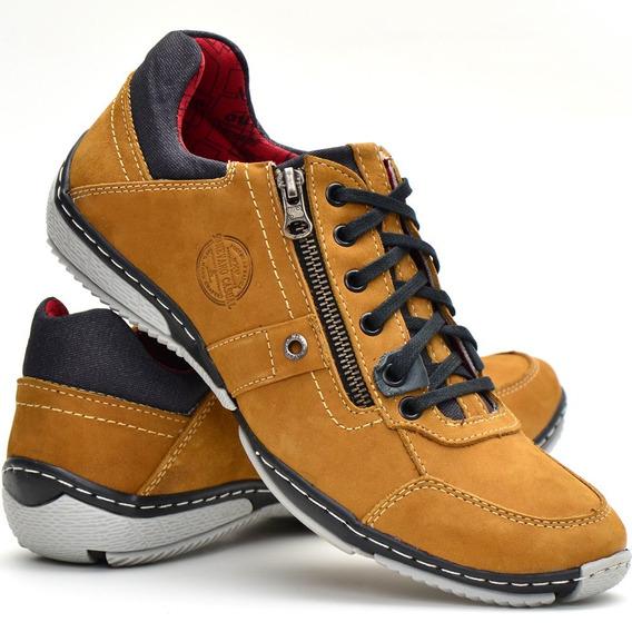 Sapato Sapatênis Casual Masculino Em Couro Nevano