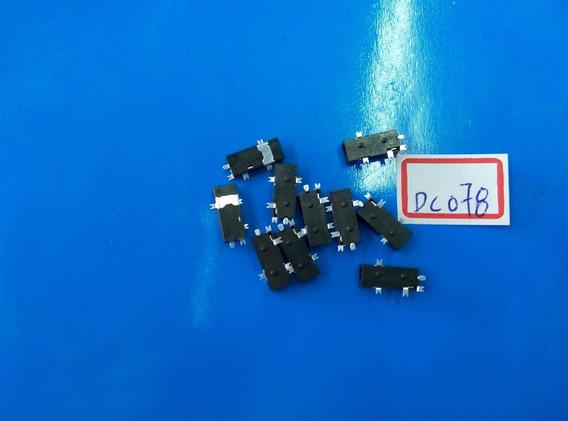 10pçs Conector De Carga Dc Jack Tablet 2.5mm X 0.7mm Dc078