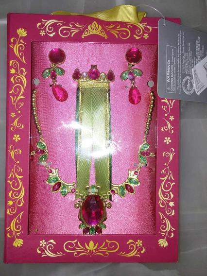 Set Joyas Princesa Ana Frozen Disney Store Collar ,aretes