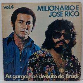 Lp Vinil Milionário José Rico Vol 4 Gargantas De Ouro Vinil