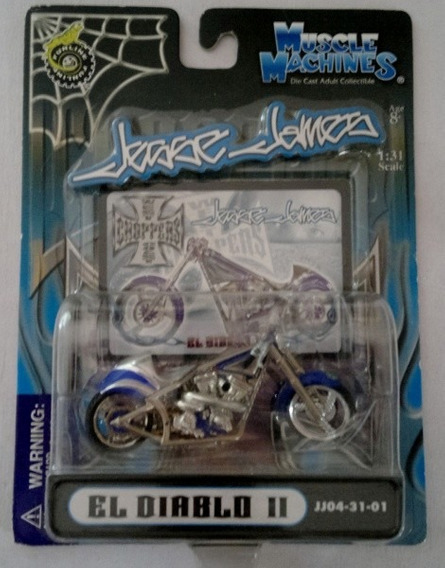 Miniatura Moto Jesse James El Diablo Chopper - Escala 1/31 !