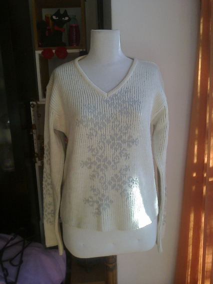 Sweater Lana Escote V Natural - Talle M