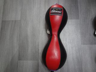 Pera Doble De Piel Rojo/negro Palomares Genuino