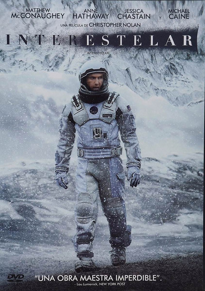 Interestelar Interstellar Christopher Nolan Pelicula Dvd