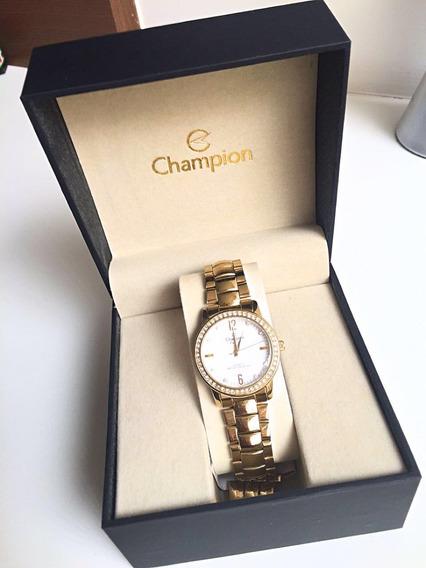 Relógio Champion Feminino Passion Dourado Cn28599 Original