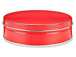 Caja Con 24 Latas Decorativas Para 453 Gramos Color Rojo