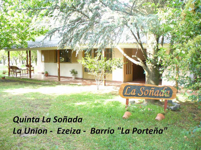 Quinta Ezeiza La Soñada Pileta Parque Parrilla Quincho Pool