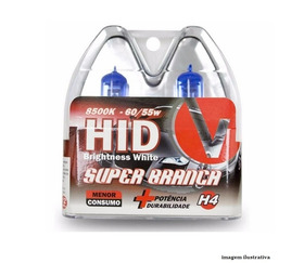 02 Kit Lâmpadas Super Brancas 8500k ,h4 8500k +  Hb4 8500k