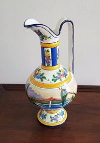 Espetacular Jarra Ceramica Vitrificada Portuguesa Alcobaça