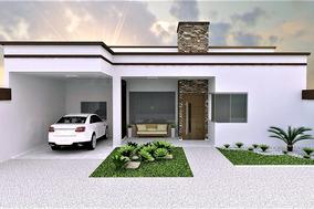 Projeto Casa Térrea Moderna 3q - Planta Completa