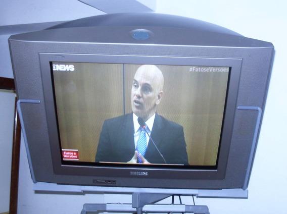 Tv Philips 21 Polegadas Tela Plana S/ Controle Remoto