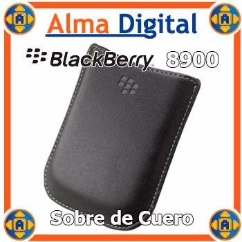 2x1 Funda Cuero Blackberry Javelin 8900 Estuche Sobre