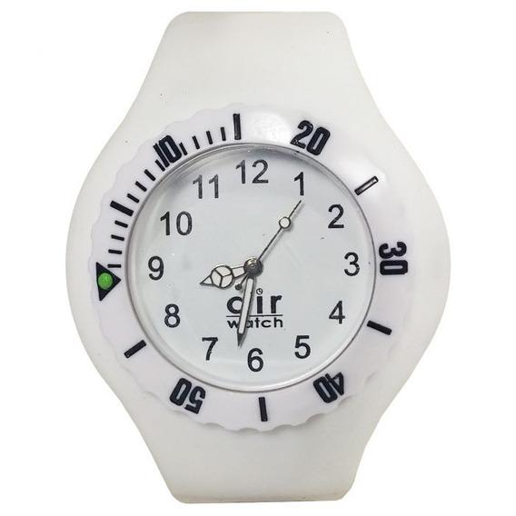 Relógio Pulso Air Watch Pulseira De Silicone Branco M7