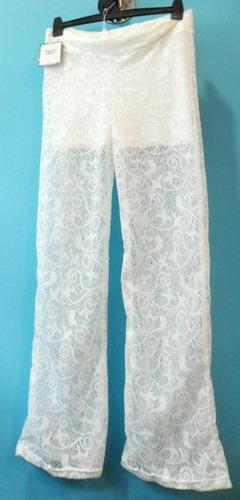 Pantalon De Encaje Forrado Corto Talle S  Al  Xl Jean Camisa