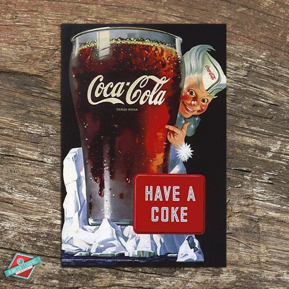 Cuadro De Chapa Retro Vintage - Coca Cola - Oferta!!!