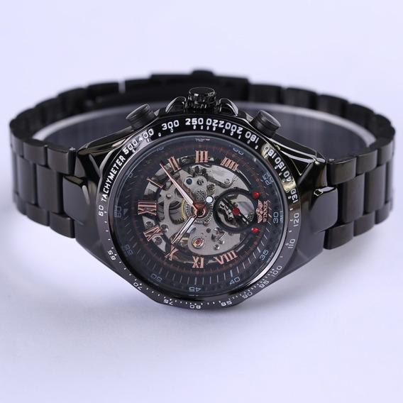 Relógio Masculino Mecânico Artesanal Maquinário Feito A Mão