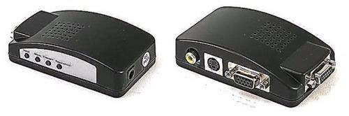 Imagen 1 de 5 de Nuevo Conversor Adaptador De Rca Ó S-vídeo A Monitor Vga