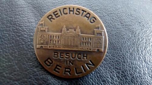 Antigua Piocha Alemania Reichstag Besuchin Berlin 1931 (765z