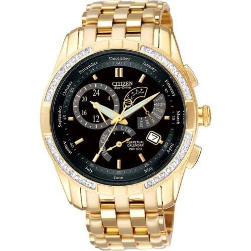 Relógio Citizen Bl8043 51e Orig Eco-drive Gold 36 Diamond