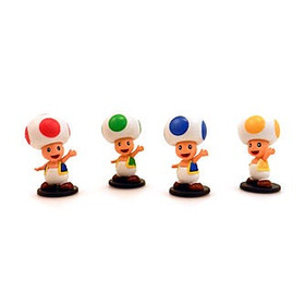 Super Mario Mini Figure - Toad 4 Pack Collection