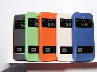 Funda Flip Cover Para iPhone 5g 5s + Vidrio Templado