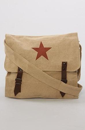 Rothco Militar Bag Estrela Vermelha (kakhi). Pronta Entrega!