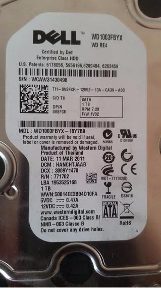0v8fcr Dell 1tb Sata 3g 7.2k 3.5 Wd1003fbyx-18y7b0 S/gaveta