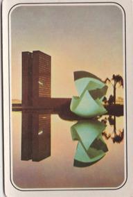 Calendário Bolso 1975 - Imagem Do Congresso - Brasilia - F3