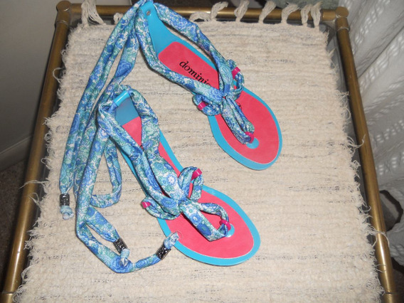 Sandalias Base Full Plastic Y Combinada Con Tela