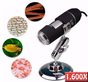 Kit Microscópio Digital Usb 1600x Hd + Tripé Alumínio