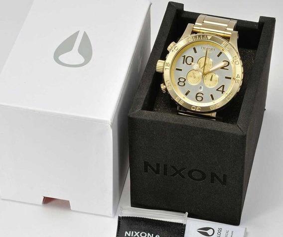 Relógio Nixon Champagne Dial Gold-tone 42-20