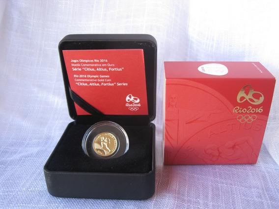 Moeda Olimpíadas 2016 Ouro 100m Rasos 12 X Frete Grátis 122